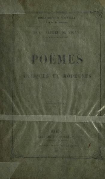 File:Vigny - Poëmes antiques et modernes, 1858.djvu