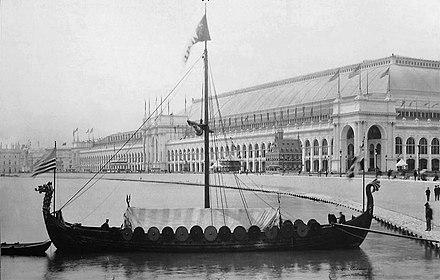 Réplica de un barco vikingo para la Exposición Universal