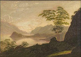 Sophia Hawthorne - Villa Menaggio, Lago di Como by Sophia Peabody, 1839–40