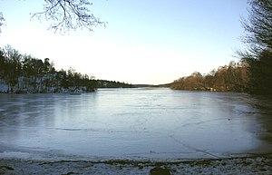 Vinterviken - The actual cove in winter.