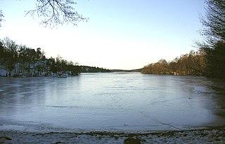 Vinterviken body of water in Aspudden, southern Stockholm, Sweden