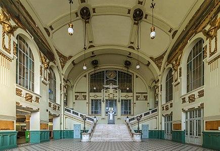Station hall of Vitebsky Railway Terminal in Saint Petersburg, Russia