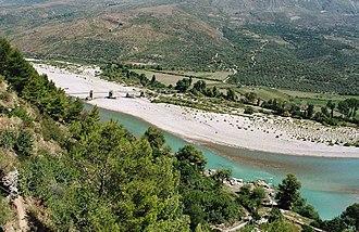 Aoös - Vjosë near Tepelenë