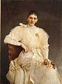 Vlaho Bukovac - Portret žene v beli obleki.jpg