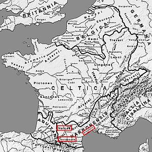 Galatians (people) - Original location of the Tectosages in Gaul.