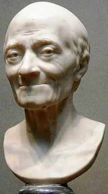 Voltaire, by Jean-Antoine Houdon, 1778 (National Gallery of Art) (Source: Wikimedia)