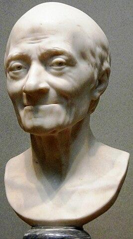 Вольтер, скульптор Жан-Антуан Гудон, 1778 год. Из коллекции Национальной галереи искусства