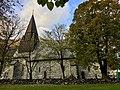 Voss Church (Voss kirke-kyrkje, Vangskyrkja) 13th-c stone church, Voss, Norway 2016-10-25 -07- southern wall.jpg