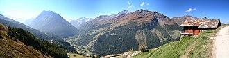 Evolène - Les Haudères, Val d'Hérens, Valais, Suisse (sept. 2007)