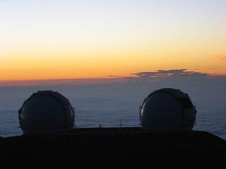 W. M. Keck Foundation - W. M. Keck Observatory at dawn, Mauna Kea, Hawaii