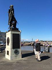 John Kessler's descendants visit Commodore John Barry's Statue at Wexford, Ireland.