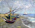 WLANL - jankie - Vissersboten op het strand van Les Saintes-Maries-de-la-Mer, Vincent van Gogh (1888).jpg