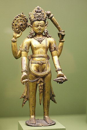 Sudarshana Chakra - Vishnu with Sudarshana Chakra in his right rear hand