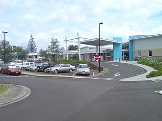 Porte-cochère - A modern example at a hospital