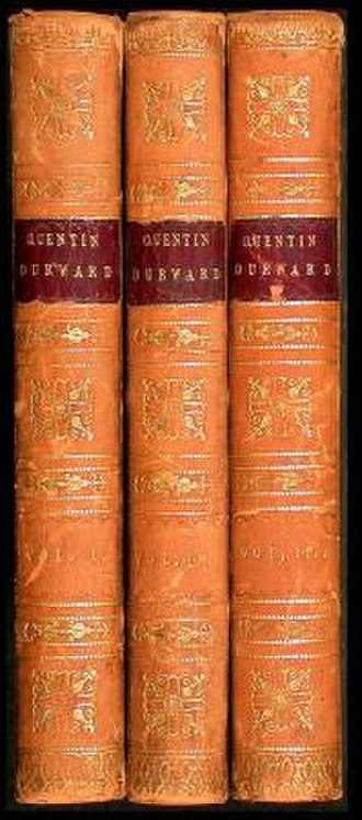 Quentin Durward - Cover to the 3-volume first edition