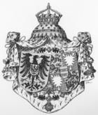 Wappen Deutsches Reich - Alliance-Wappen der Kaiserin Auguste Victoria.png