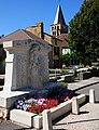 War monument and church of Saint-Pompon Dordogne - panoramio.jpg