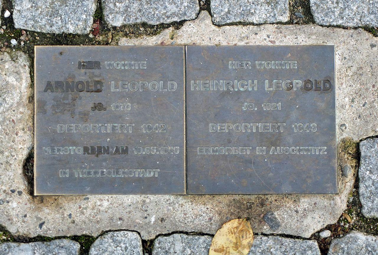 Waren - Denksteine Arnold und Heinrich Leopold.jpg