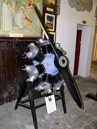 Warner Scarab - The R-500-7 Super Scarab model 165 displayed at Museo dell'Aria e dello Spazio in San Pelagio, Due Carrare, Province of Padua.