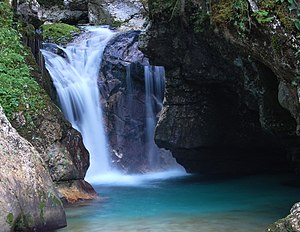Waterfall near Lepena, Slovenia