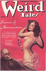 Weird Tales cover image for March 1938