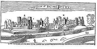 Siege of Basing House - The siege of Basing House by Wenceslaus Hollar.