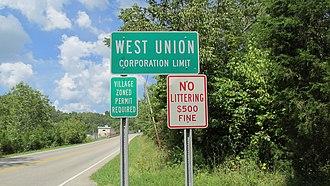 West Union, Ohio - Image: West Union OH1