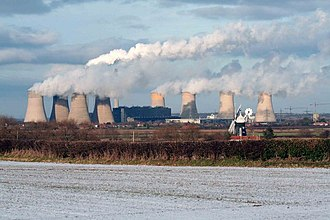 West Burton power stations - The cooling towers in 2009