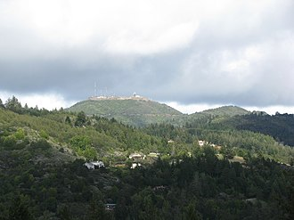Loma Prieta - Image: West Flank of Loma Prieta Mountain, April 2012