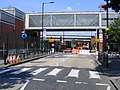 West Ham tube rail station - road closed due to Olympic crowds (7644887786).jpg