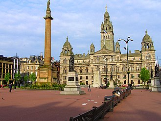George Square - George Square and Glasgow City Chambers
