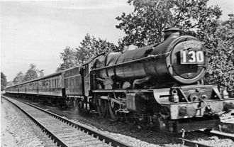 Cornish Riviera Express - 6007 King William III on Wellington Bank with a westbound Cornish Riviera in August 1954