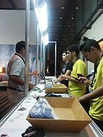 Wikimania 2015-Wednesday-Registration desk (3).jpg