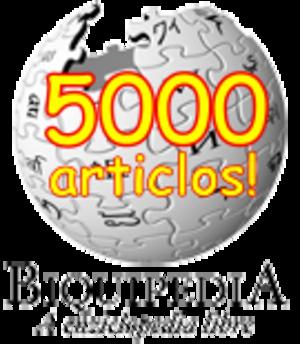 Aragonese Wikipedia - Image: Wikipedia 5000 an