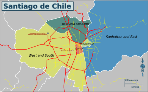 Map of Santiago de Chile