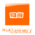 Wiktionary logo orange YoungStyle! 3.png