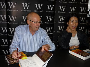 Assegai (novel) - Smith signing a copy of Assegai, London 2009