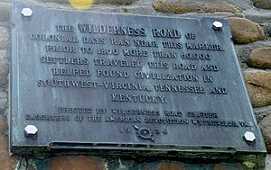 Fort Chiswell, Virginia - Wilderness Road plaque on the above Historic Marker.