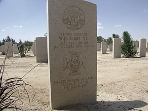 Bill Kibby - Grave of Bill Kibby at the Commonwealth War Grave, El Alalmein, Egypt.