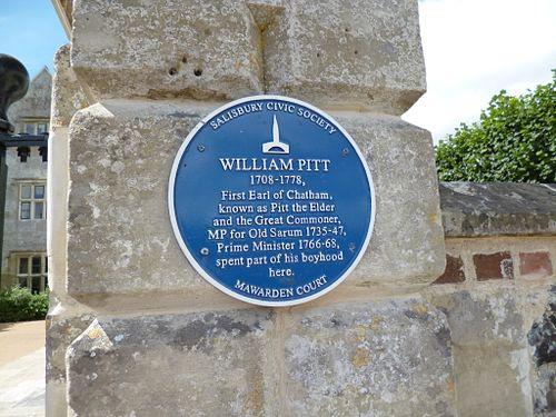 William pitt plaque in salisbury