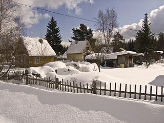 Mga Urban-type settlement in Leningrad Oblast, Russia