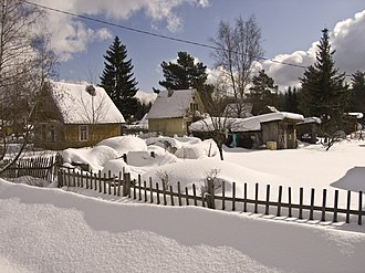 Mga - The settlement in the winter