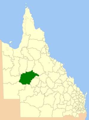 Shire of Winton - Location within Queensland