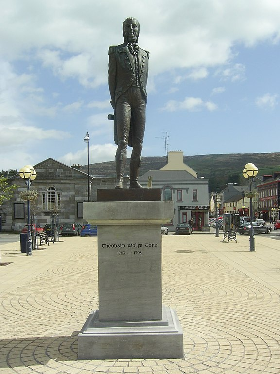 A statue of Theobald Wolfe Tone also stands in the main square of Bantry, Ireland.