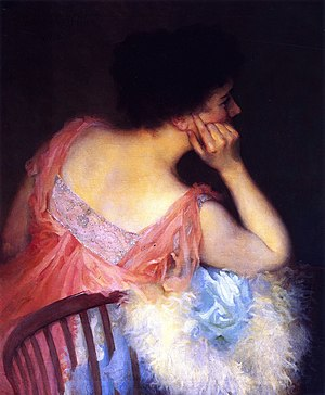 Marion Boyd Allen - Portrait of a Woman in a Pink Dress, 1916