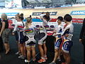 Women's team sprint, lineup for the podium.jpg