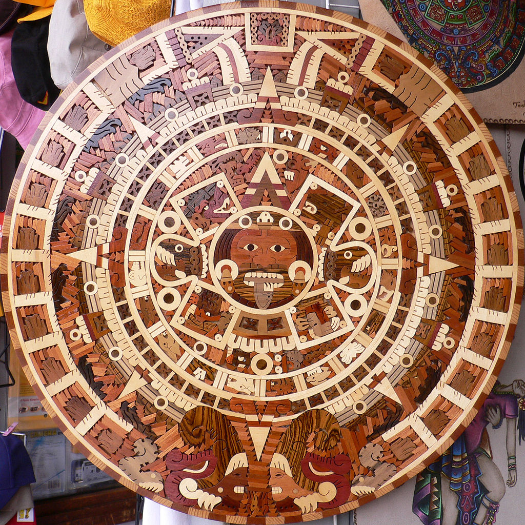 Filewooden Aztec Sun Stonejpg Wikimedia Commons