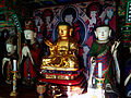 Wooden Ksitigarbha Bodhisattva Triad Statues And Ten Kings Statue at Cheonggoksa 01.JPG