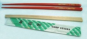 Wood and plastic chopsticks