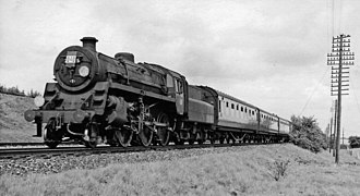 BR Standard Class 4 2-6-0 - 76025 at Worting Junction in July 1960.
